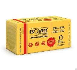 Минераловатный утеплитель Isover Каркасный Дом 1000х600х50 мм /8шт