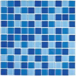 Мозаика Bonаparte Blue wave-2 голубая глянцевая 30x30