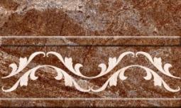 Бордюр Нефрит-керамика Бельведер 13-01-1-25-43-15-410-0 25x15 Коричневый