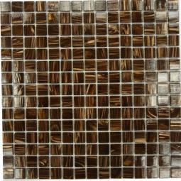 Мозаика Bonаparte Choco коричневая глянцевая 32.7х32.7