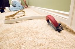 Настил коврового покрытия с полным приклеиванием до 50 м2