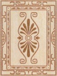Декор Шаxтинская Плитка Илиада Красный 01 25x33