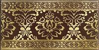 Бордюр Lasselsberger Катар коричневый 13x25