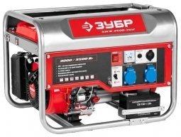 Генератор бензиновый ЗУБР ЗЭСБ-3500-ЭМ2 3000/3500 Вт ручной/электрический запуск
