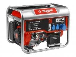 Генератор бензиновый ЗУБР ЗЭСБ-6200-Э 5700/6200 Вт ручной/электрический запуск