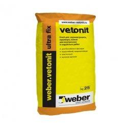 Клей Weber.Vetonit Ultra Fix для керамогранита, мрамора, камня для наружных и внутренних работ 25 кг
