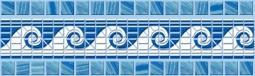 Бордюр Cersanit Reef C-RF1A031 Синий 6X20