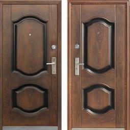 Металлическая дверь 550, Китай, 960*2050, орех