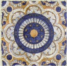 Вставка Сокол Майолика D707-4 орнамент матовая 8х8