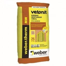 Клеевая смесь Weber.Vetonit Term MW для монтажа минеральной ваты 25 кг