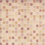 Плитка для стен Сокол Римская мозаика RM6B коричневая глянцевая 33х33