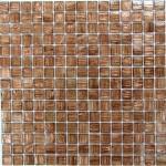 Мозаика Bonаparte Gold Stream коричневая глянцевая 32.7х32.7