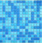 Мозаика Elada Econom на бумаге MC107P голубая на бумаге 32.7x32.7